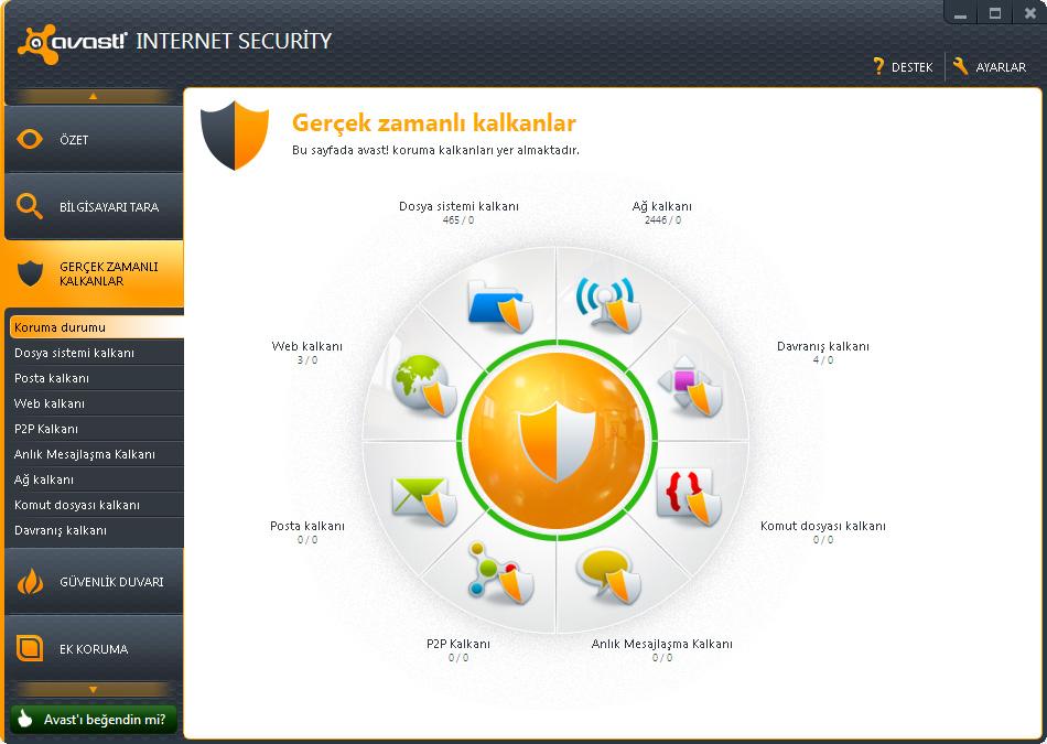 Avast! Internet Security v7.0.1426 Türkçe Full